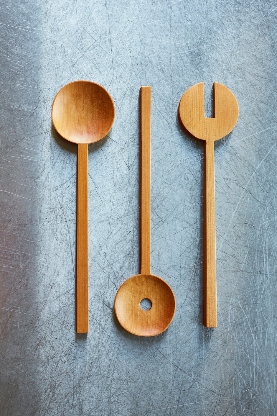 Handmade wooden cooking utensils by Courtney Petley | homestyle
