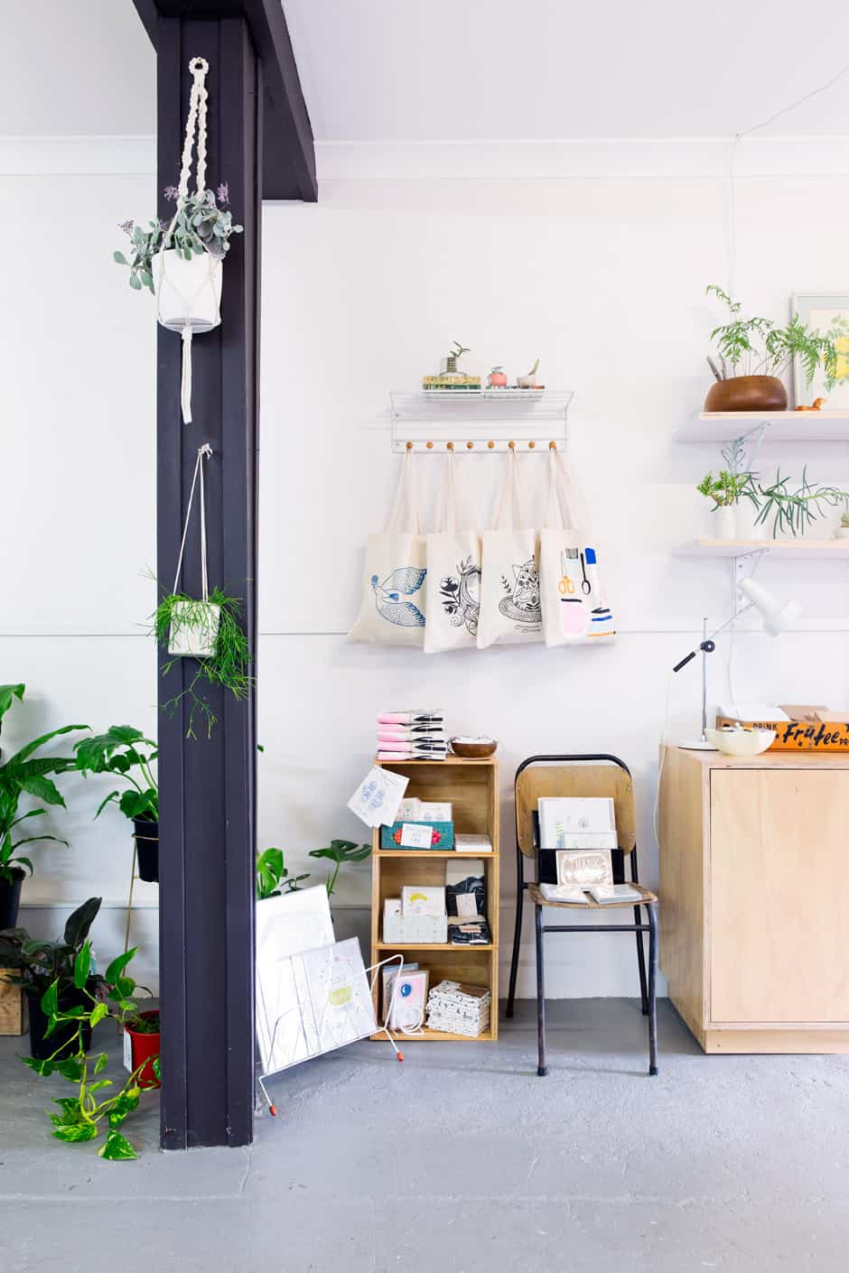 OPPOSITE, TOP RIGHT There's a well-edited selection of covetable pieces up for grabs in the shop.
