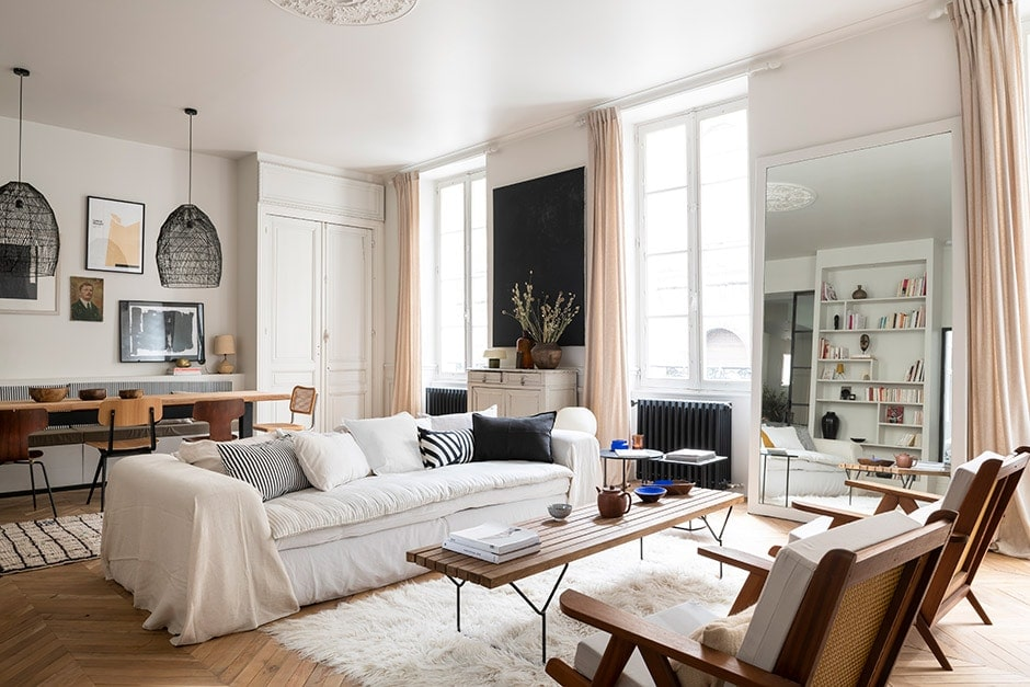 An apartment in France is revitalised to ultra-chic effect