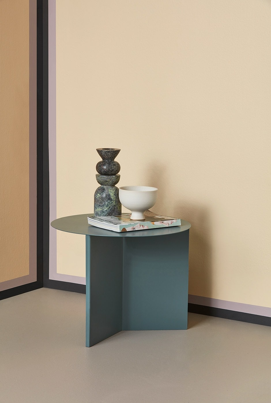Use paint to give a room a colourful edge