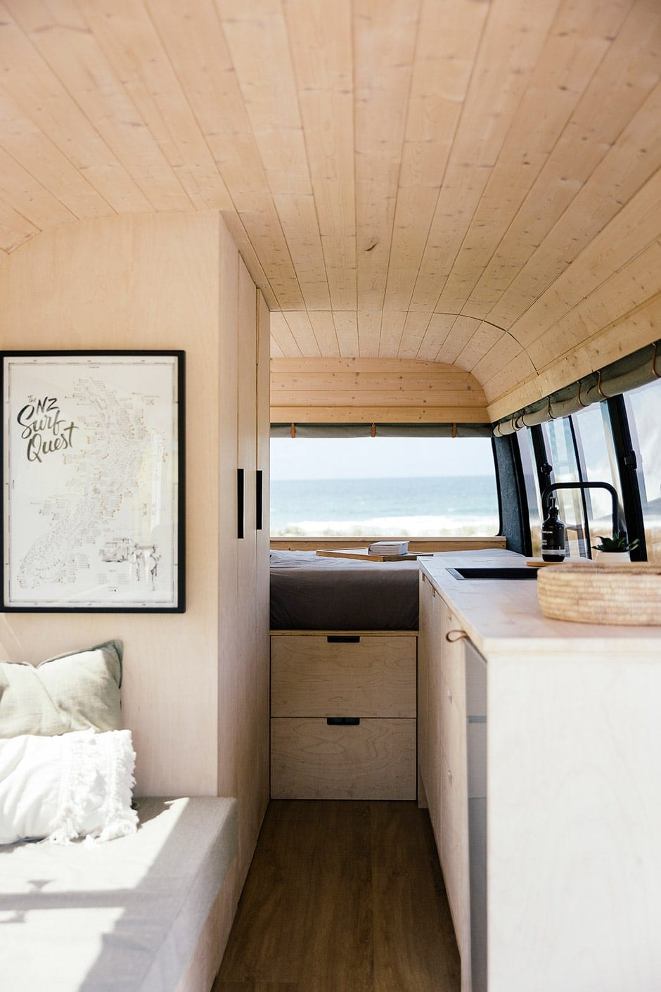 A Scandi-style surf van with a plan